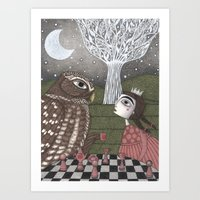 once upon a  time Art Prints featuring Once Upon a Time by Judith Clay