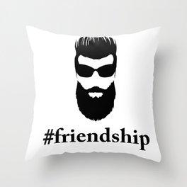 #friendship Throw Pillow