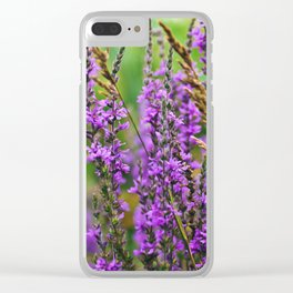 Pink Summer Meadow Clear iPhone Case