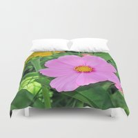 cosmos Duvet Covers featuring Cosmos by Bella Mahri-PhotoArt By Tina