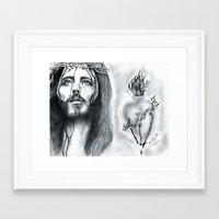 religious Framed Art Prints featuring Religious  by Lion Aguirre