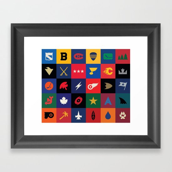 Minimalist Hockey Framed Art Print
