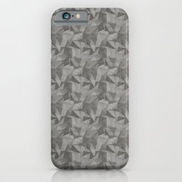 Abstract Geometrical Triangle Patterns 2 Benjamin Moore 2019 Trending Color Kendall Charcoal Gray HC iPhone Case