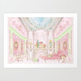 Paris Pink Patisserie Art Print