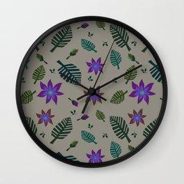 Tropics Print 2 Wall Clock