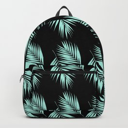 Palm Leaves Pattern #2 #Mint #Black #decor #art #society6 Backpack