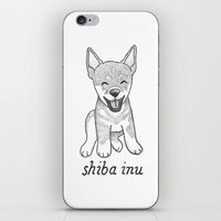 shiba inu iPhone & iPod Skins featuring Dog Breeds: Shiba Inu by Christine Fleming
