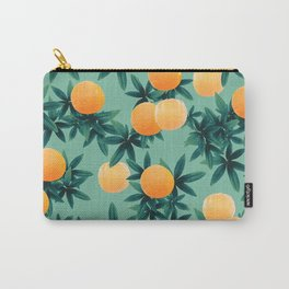 Orange Twist Vibes #1 #tropical #fruit #decor #art #society6 Carry-All Pouch