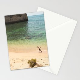 Run on the beach Stationery Cards