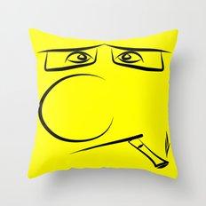 Smoking Pillow Throw Pillow