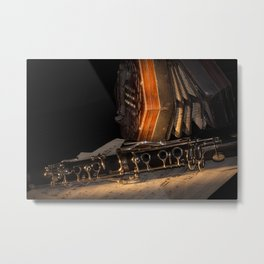 The Clarinet and the Concertina Metal Print