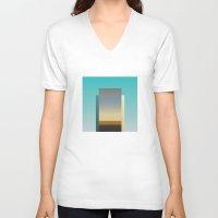 architect V-neck T-shirts featuring Architect by ktparkinson