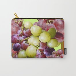 DECORATIVE PURPLE & GREEN GRAPE CLUSTER DESIGN Carry-All Pouch