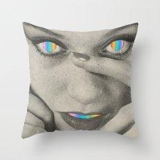 Internal rainbow Throw Pillow