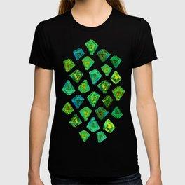 Green gemstone pattern. T-shirt