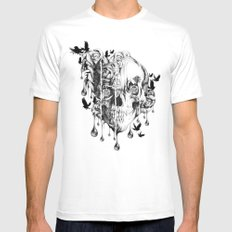 Beneath the Surface MEDIUM White Mens Fitted Tee