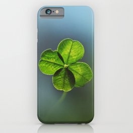 Lucky Four Leaf Clover iPhone Case