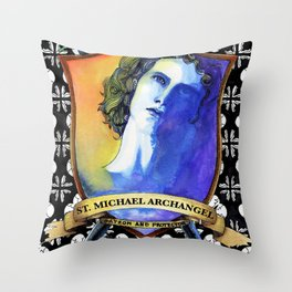 St. Michael, Archangel Throw Pillow