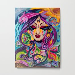 Goddess Underwater Metal Print