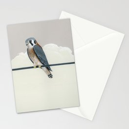 American Kestrel on the Line Stationery Cards