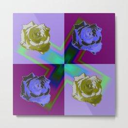 Crossroses lila Metal Print