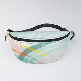Somewhere - mint & peach Fanny Pack