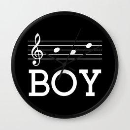 Bad boy (treble clef, dark colors) Wall Clock