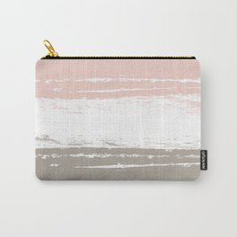 Pastel Color Blocks - Pink and Brown Carry-All Pouch