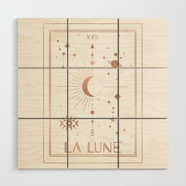 La Lune or The Moon White Edition Wood Wall Art
