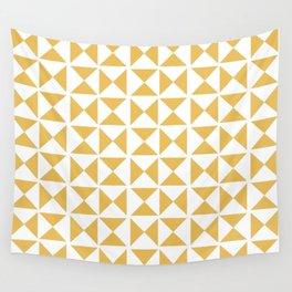 Mustard yellow Mid century Wall Tapestry