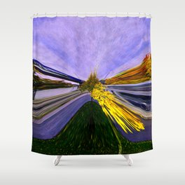 Abstracting Autumn Shower Curtain