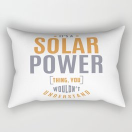 Solar Power Thing Rectangular Pillow
