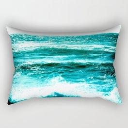 California Ocean Waves Rectangular Pillow