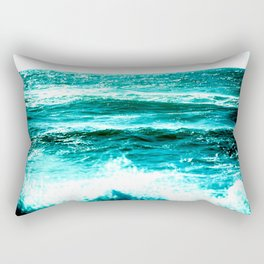 California Ocean Waves Rectangular Pillow