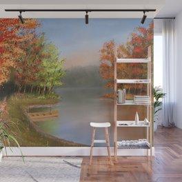 Riverside at fall Wall Mural