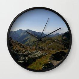 Czerwone Wierchy latem Wall Clock
