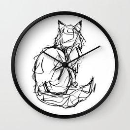 Kitty Gesture Wall Clock
