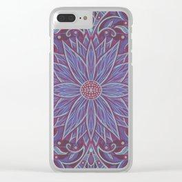 """Lavender lotus"" floral arabesque pattern Clear iPhone Case"