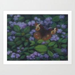 Common Buckeye - Flossflower Way Station Art Print