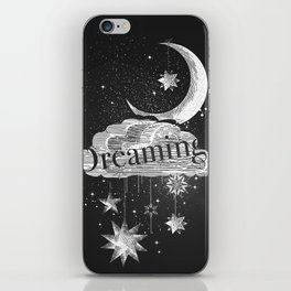 Cloud, stars and moon iPhone Skin
