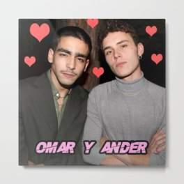 gay love fan art / happy cute dudes Metal Print