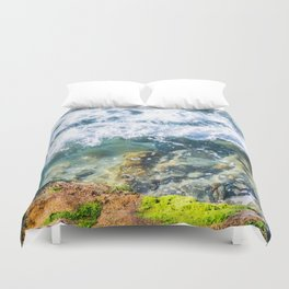 Clear Water Cliffside Duvet Cover