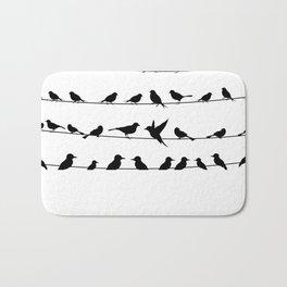 Bird on a wire Bath Mat