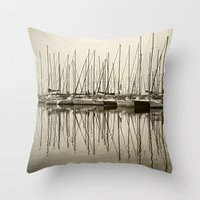 boats Throw Pillows featuring Boats by stephmel