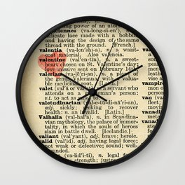 Valentine's Day (female version) Wall Clock