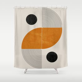 Abstract Geometric Shapes Shower Curtain