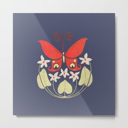 Butterfly Summer Metal Print