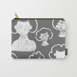 Gray Head Pattern Carry-All Pouch