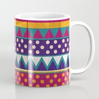 mexican Mugs featuring Mexican Pattern by Eleaxart