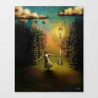 lucy Canvas Prints featuring Lucy by Joel Pritchard